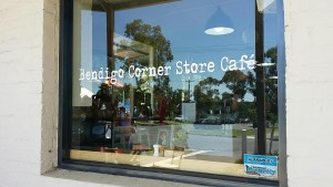 Bendigo corner store cafe window